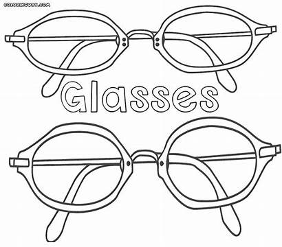 Coloring Glasses Pages Sunglasses Colorings Glass Printable