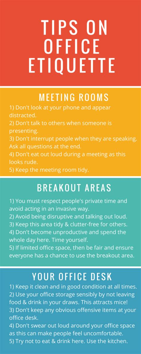 Office Kitchen Etiquette Signs by Tips On Office Etiquette Calibre Office Furniture