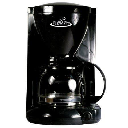 The stainless steel carafe has a comfortable handle and a dripless pour spout to make serving flavorful coffee easy. CoffeePro 4-Cup Coffee Maker - Walmart.com