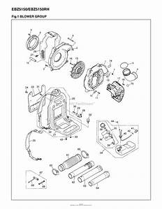 Red Max Ebz5150-10  08 Parts Diagram For 001