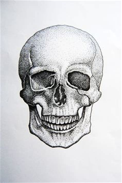 Stippled Skull Must Use Pointillism