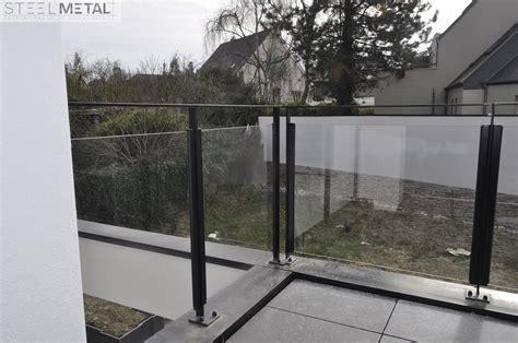 garde corps en verre extérieur garde corps ext 233 rieur en m 233 tal ou inox