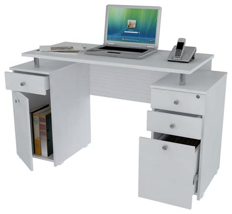 modern white desk with drawers laricina white computer desk with file drawer