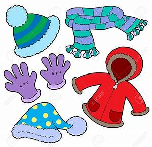 Cold clipart winter clothing - Pencil and in color cold ...