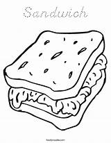 Coloring Sandwich Pages Worksheet Sheet Picnic Cheese Noodle Foods Twisty Template Ham Twistynoodle Outline Sheets Worksheets Cook Let Dog Built sketch template