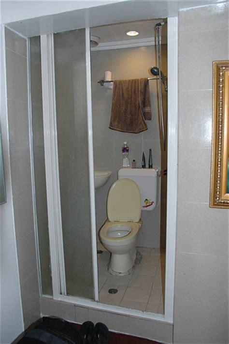 shower toilet combo photo