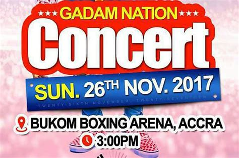 Fancy Gadam set for next Accra concert at the Bukom Boxing ...