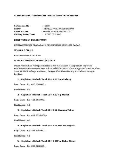 Contoh Surat Permintaa by Doc Contoh Surat Mengadakan Lelang Firli Magribi