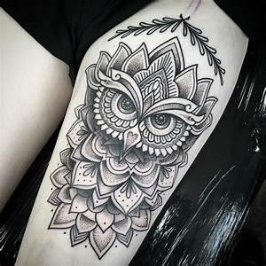 Tatouage Chouette Signification : tatouage mandala signification et mod les pour vous inspirer ~ Melissatoandfro.com Idées de Décoration
