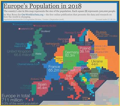 Population Map Europe Density France Country Cartogram