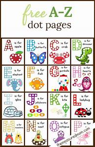 Free dot sticker coloring pages for Dots alphabet letter
