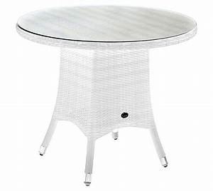 Tisch Rund Weiß : zebra tisch 90cm rund mary esstisch polyrattan 5442 snowwhite gartentisch art jardin ~ Markanthonyermac.com Haus und Dekorationen