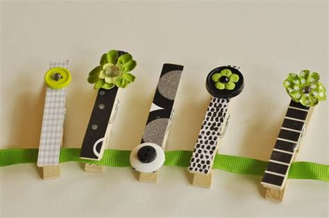 Camp Crafts}Collage Blocks and Decorative Clothes Pins