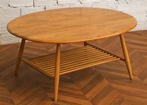 coffee table vintage ercol furniture maker england With table basse annees 50