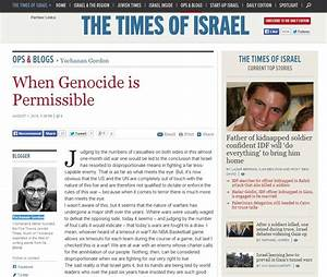 "The Times of Israel Removes ""When Genocide is Permissible ..."
