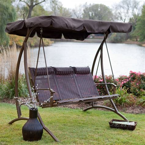 canap swing 9 cool and cozy patio swing with canopy designs