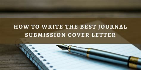 Cover Letter For Submitting Paper To Journal by Submitting Research Paper To Journal