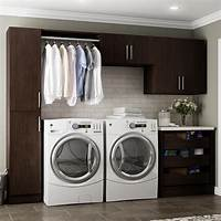 cabinets for laundry room Modifi Madison 60 in. W White Open Shelves Laundry Cabinet Kit-ENL60B-MPW - The Home Depot