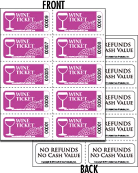 wine ticket sheets     print  admit