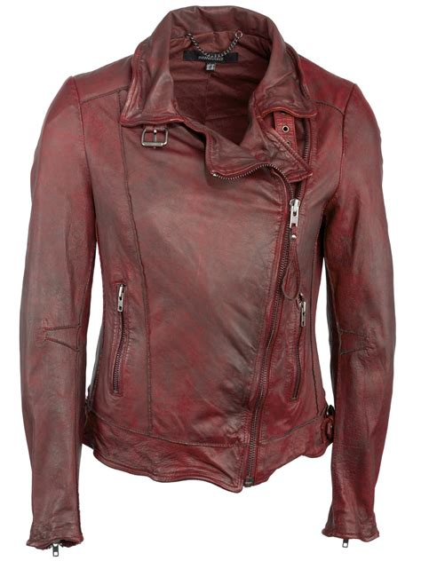 red leather motorcycle jacket quinn leather biker jacket in cherry red