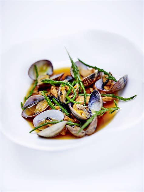 salicorne cuisine bouillon de chignons iodé vongole salicorne pour 4