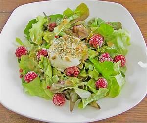 Salat Mit Ziegenkäse Und Honig : salat mit warmem ziegenk se und himbeeren rezept mit bild ~ Lizthompson.info Haus und Dekorationen