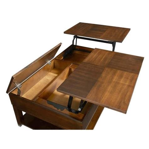 Slide its lacquered finish to the side for spare books and. Progressive Furniture Daytona Regal Walnut Double Lift-Top Cocktail Table P531-25 - The Home D ...