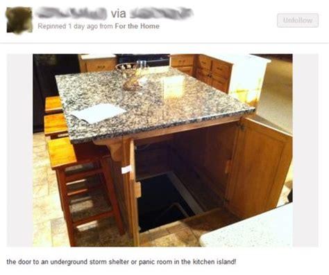 kitchen island secret passage panic room door home designs wine 5151