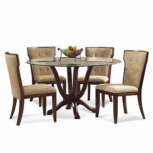 bassett mirror serenity 5 piece round glass pedestal With round glass dining room sets