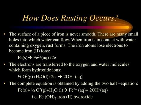 rusting does experiment occurs method prevented ppt sacrificial using iron powerpoint presentation which water
