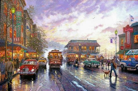 Thomas Kinkade City By The Bay Painting  Best Paintings