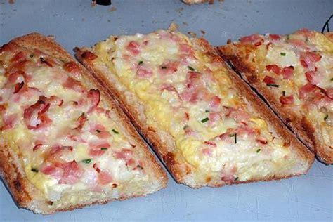 baguettes garnies au bacon recette croques  pains