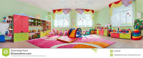 Panorama Children's Playroom Stock Image  Image Of House