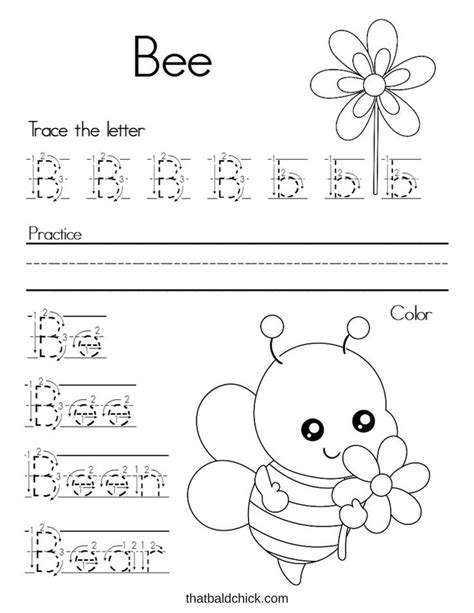 letter bee work sheet free printable printables for kids
