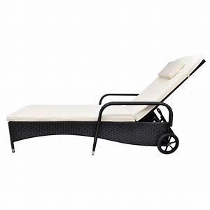 Chaise Rotin Noir : acheter vidaxl chaise longue rotin noir pas cher ~ Teatrodelosmanantiales.com Idées de Décoration