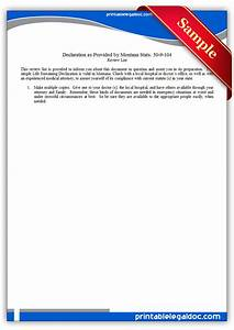 Free printable life sustaining statute montana form generic for Montana legal documents