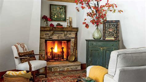 fall fireplaces  mantels southern living