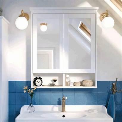 Bathroom Ikea Wall Spa Mirror Open Luxury
