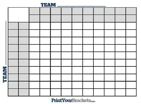super bowl squares  halftime lines printable version