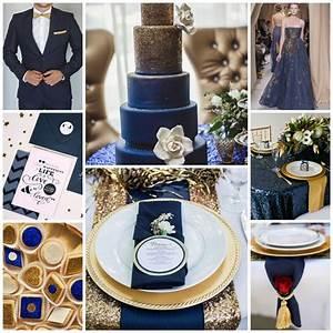 Deco Mariage Bleu Marine : mon mariage entre bleu et or splendide ~ Teatrodelosmanantiales.com Idées de Décoration