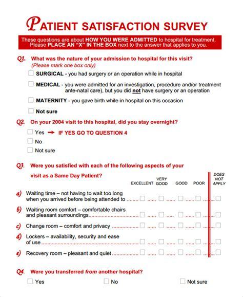 18018 patient feedback form 11 sle patient satisfaction survey templates to