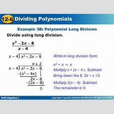 126 Dividing Polynomials Warm Up Lesson Presentation Lesson Quiz  Ppt Video Online Download