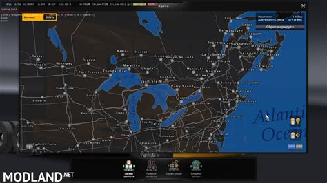 north america map collection  mod  american truck