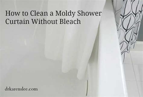 how to clean a moldy shower curtain without