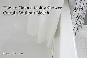 how to clean a moldy shower curtain without bleach With bleach to clean bathroom