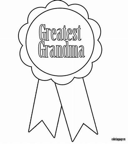 Coloring Grandma Pages Grandpa Grandparents Ribbon Greatest
