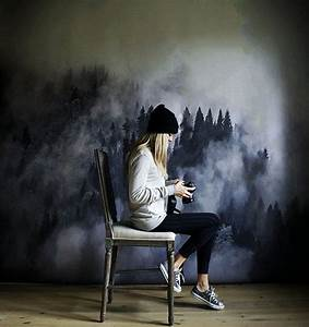 Weiße Farbe Angebot : foggy hills mural black and white wallpaper trees mural in 2019 tapeten pinterest ~ Eleganceandgraceweddings.com Haus und Dekorationen