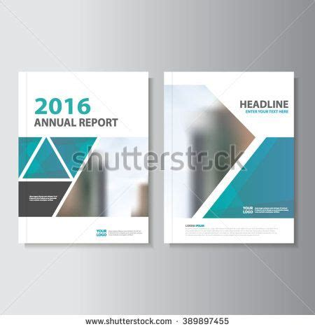 triangle blue vector annual report leaflet brochure flyer