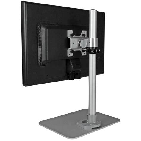 monitor stand for desk amazon com startech com single monitor stand silver