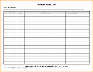 employee training log sample templatex1234 With employee training documentation form